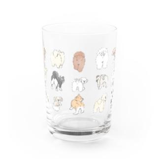 いぬのおしり Water Glass
