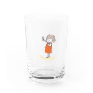 暑ガール Water Glass