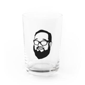 Shacho logo black Water Glass