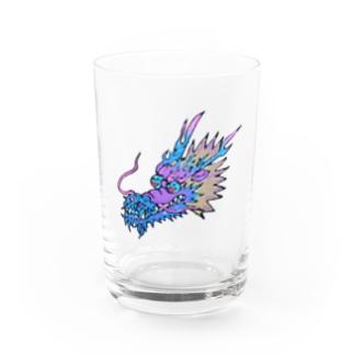 富嶽キャッスルのにこやかな龍♪ Water Glass