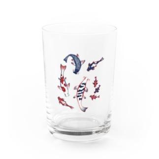 【日本レトロ#12】鯉  Water Glass