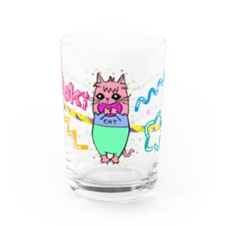 Dokiっとキャット(ピンク)  Water Glass