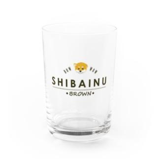 SHIBAINU-BROWN(赤柴) Water Glass