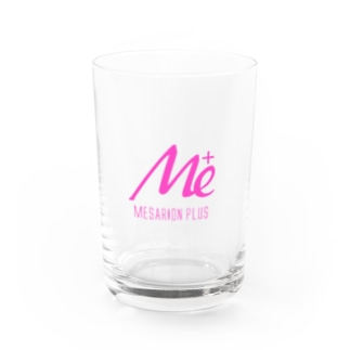 MESARION+ロゴ 文字切り抜きVer(ピンク) Water Glass