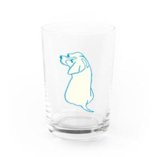 inu_beagle Water Glass