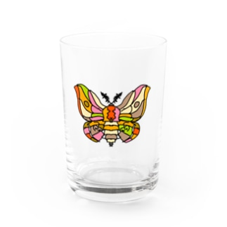 Beautiful moth (綺麗な蛾) Full of vitality (フル オブ バイタリティ) Water Glass