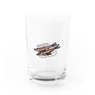 うまいさかな Water Glass