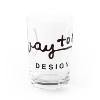 way to go design ロゴ・クロ Water Glass