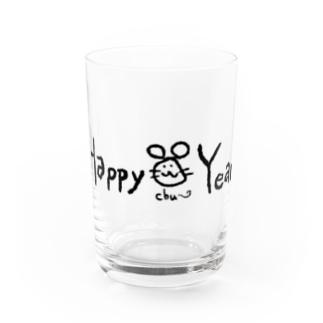 Happy chu~ Year Water Glass