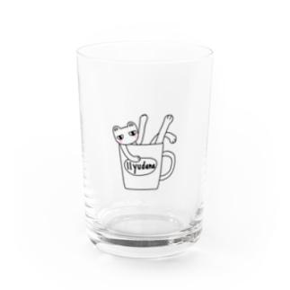 amupontanのおふろだいすきにゃんこ Water Glass
