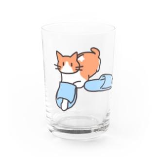 スリッパをはいた猫 Water Glass