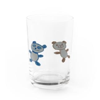 ぱんちゃんくまちゃん Water Glass