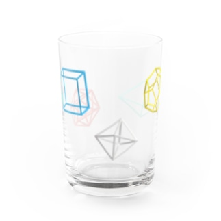 Regular Polyhedron Water Glass