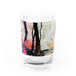 4つの景色(ピンク、ゴールド) Water Glass