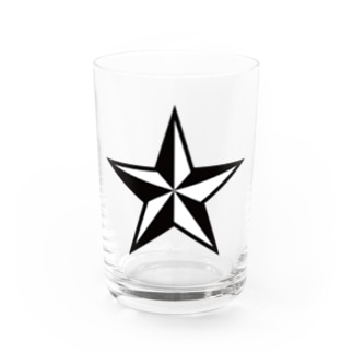 STAR black Water Glass