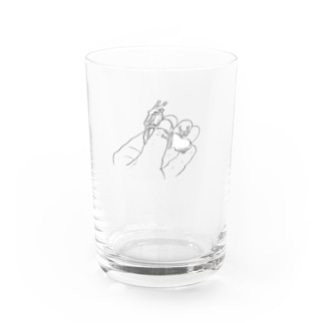 a kaeru in the hand シロアゴガエル (グラス用) Water Glass