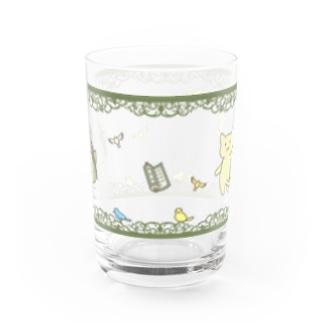 仏にゃんグラス Water Glass