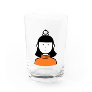 タートルネックとおすもうさん Water Glass