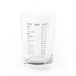 牛乳の成分表示 Water Glass