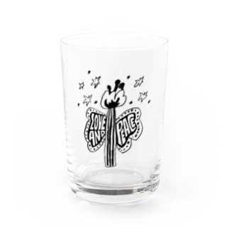 LOVE AND PEACE Water Glass