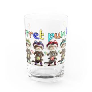 フェレット ファンク! ふわもこフェレット Water Glass