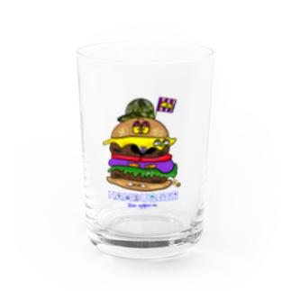 Hamburger Water Glass