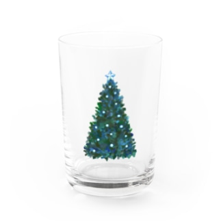 Christmas Tree Water Glass