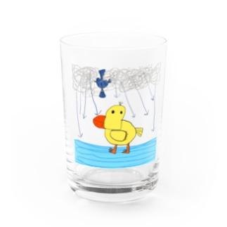 アヒルのクワッキー Water Glass