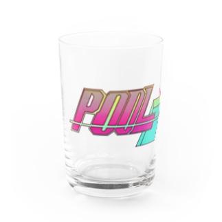 #p001_POOLショップロゴ Water Glass