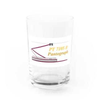 電車のシングルアーム パンタグラフ Water Glass