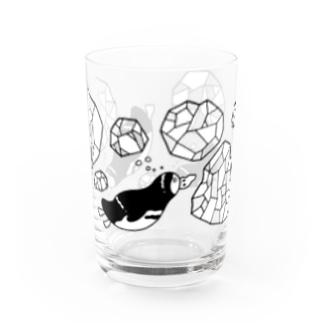楽しそうなペンギングラス Water Glass