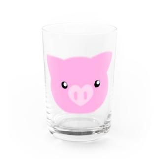 ブタちゃん Water Glass