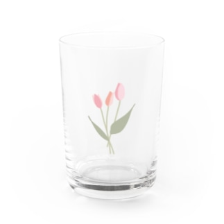pink tulip Water Glass
