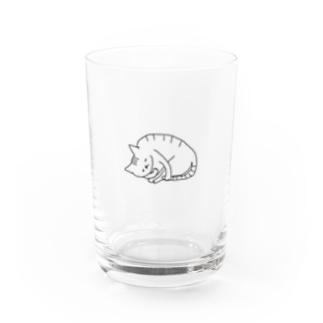 ねむいネコ Water Glass