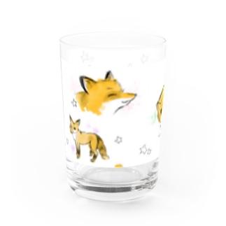 キツネさんのグラス Water Glass