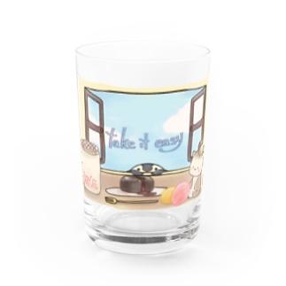 ほっこりティータイム Water Glass