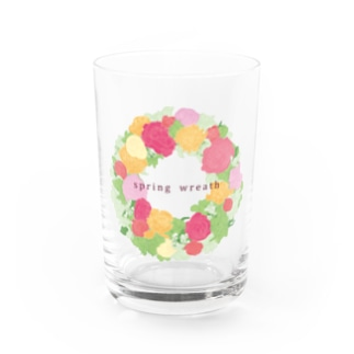 spring wreath Water Glass