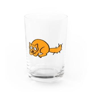 kawajitomoyoの野良猫のらねちゃん Water Glass