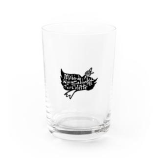 鳥ロゴ Water Glass