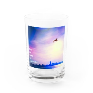 KAMOME in the sky Water Glass