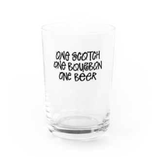 One Scotch, One Bourbon, One Beer Water Glass