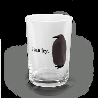 かとうみかん@ペンギンイラストの飛べると信じているペンギンのヒナ Water Glass