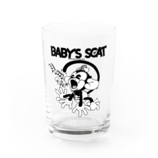Booty the baby baboonのBooty's Scat! Water Glass