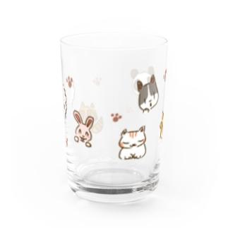 いろんな動物せいぞろい Water Glass