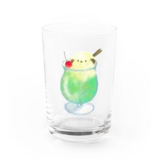 クリームエナガ Water Glass