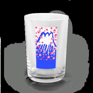 はっぴいハウスの富士山に春よ来い〜 Water Glass
