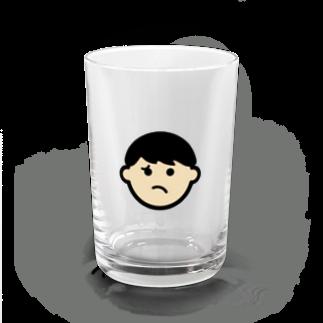 haruの納得いかないの顔グラス Water Glass