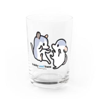 pokky and yuzu Water Glass