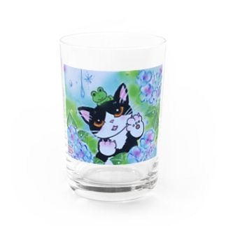 AWOJI  THE  CAT  雨がすき ! Water Glass
