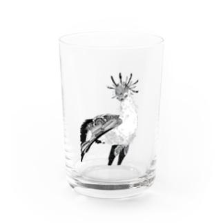 Botanical-Snake eagle Water Glass